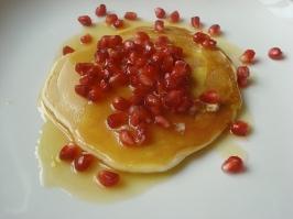 pomegranate orange sauce with pancakes