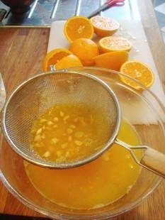 juicing the oranges