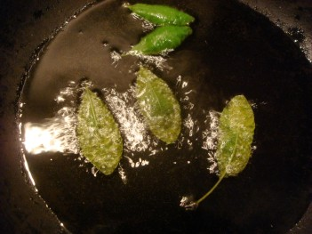 leaves frying