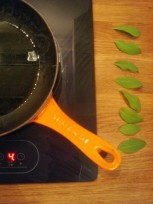 olive oil and sage leaves