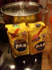 Harina Pan: corn meal dough