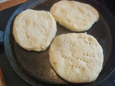 browning first side of the Arepas Andinas