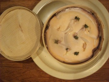 shallots and thyme laced into the cheese