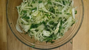 oinon parsley and garlic in marinade