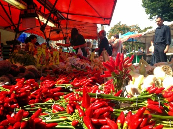 peppers in the Türkische Markt