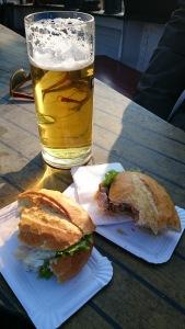Räucherfisch Brötchen, smoked fish sandwich in Kloster