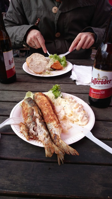 Fried Herring and smoked Halibut in Starlsund