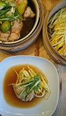 steamed lime chicken and courgette