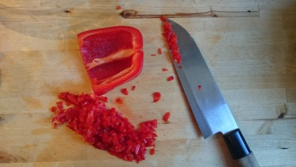 finely chopped red pepper