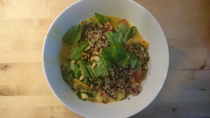 Curry coconut milk vegetable soup